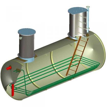 Underground tanks horizontal drainage_1