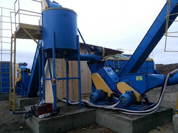 Линия предварительной подготовки древесных отходов