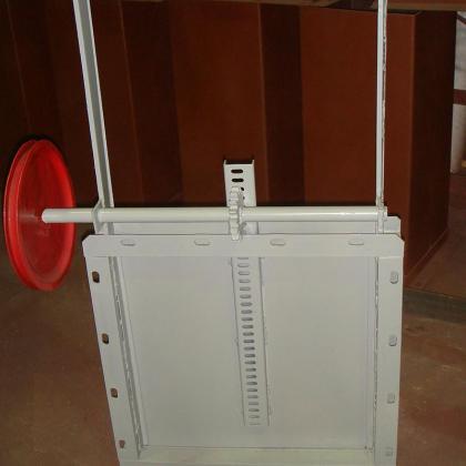 Задвижка реечная роликовая ручная\электрическая 5